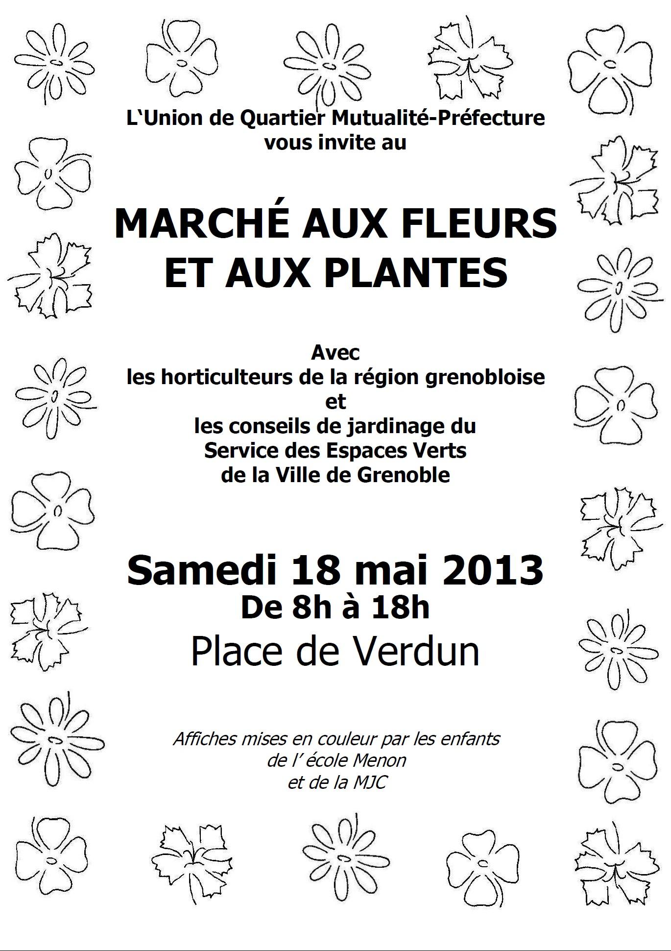 affiche marché fleurs 2013 - UQ mut pref