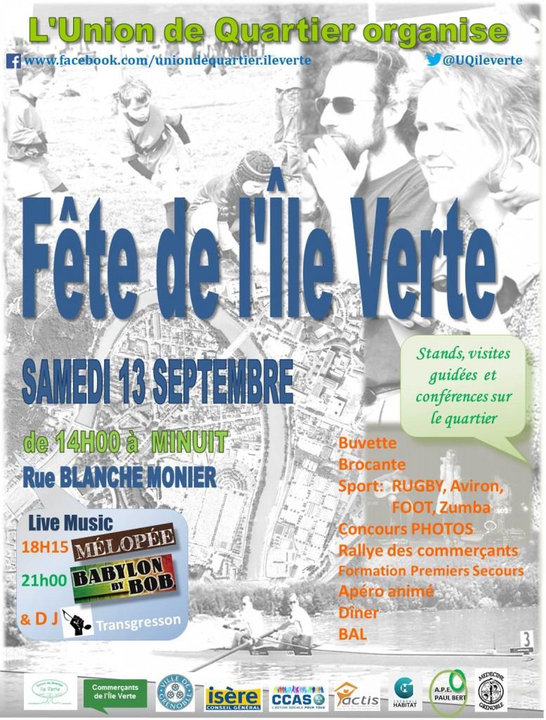 Affiche - fête de l'Ile Verte - 13Sep2014 - 9