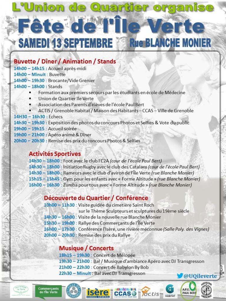 Programme Linéaire Fête de l'île Verte - 13Sep2014 - 2