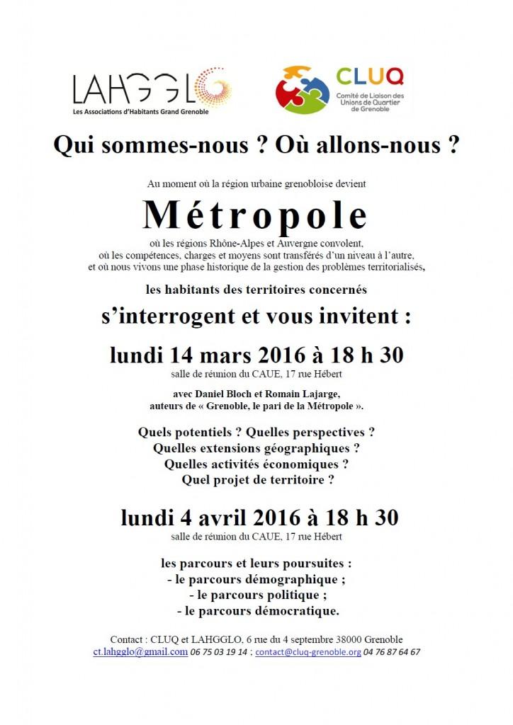 Reunion publique 14 mars et 4 avril 2016