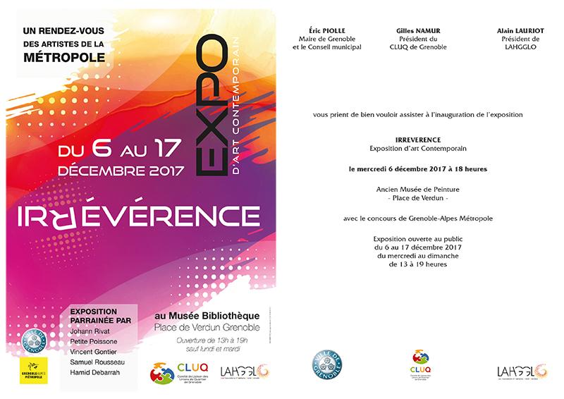 6 décembre 2017 Inauguration de l'exposition IRREVERENCE