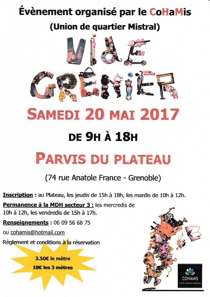 AFF VIDE GRENIER BS- cohamis 2017
