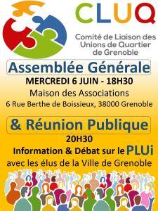 Affiche AG + Réunion Publique - CLUQ 2018